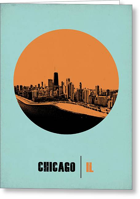 Nostalgic Greeting Cards - Chicago Circle Poster 2 Greeting Card by Naxart Studio