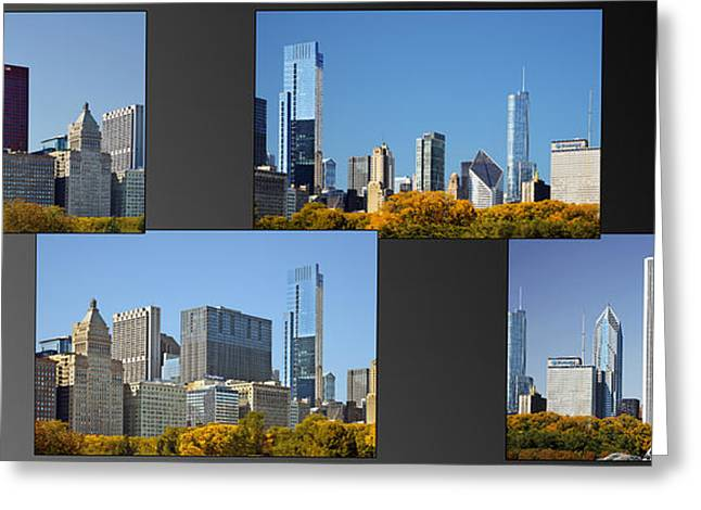 Interior Scene Photographs Greeting Cards - Chicago City of Skyscrapers Greeting Card by Christine Till