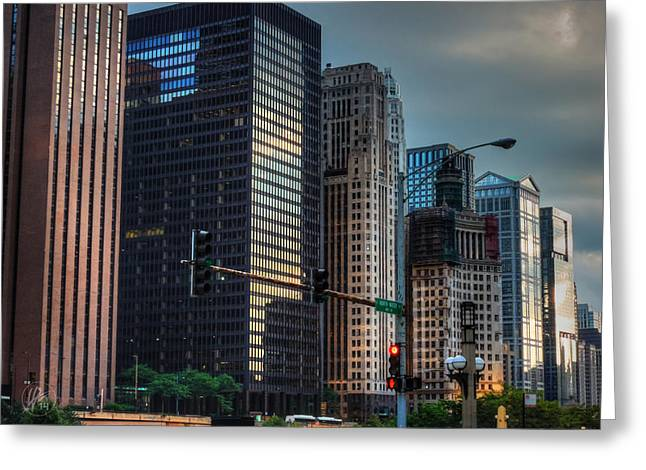 Guarantee Greeting Cards - Chicago Cityscape 002 Greeting Card by Lance Vaughn