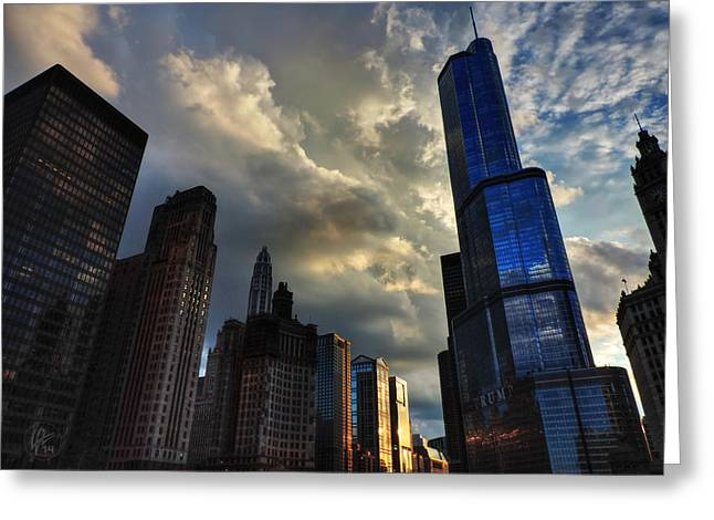 Guarantee Greeting Cards - Chicago Cityscape 003 Greeting Card by Lance Vaughn