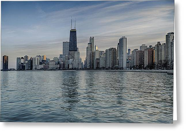 Chicago Coast Greeting Card by Donald Schwartz
