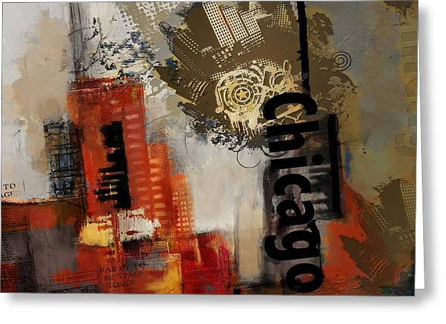 Digital Media Greeting Cards - Chicago Collage Greeting Card by Corporate Art Task Force