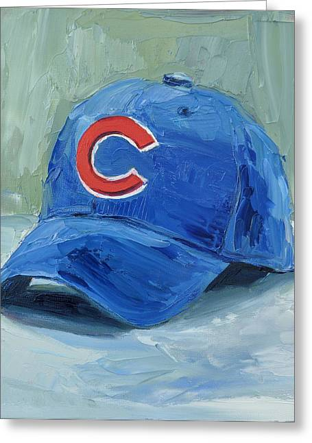 American League Greeting Cards - Chicago Cubs Greeting Card by Lindsay Frost