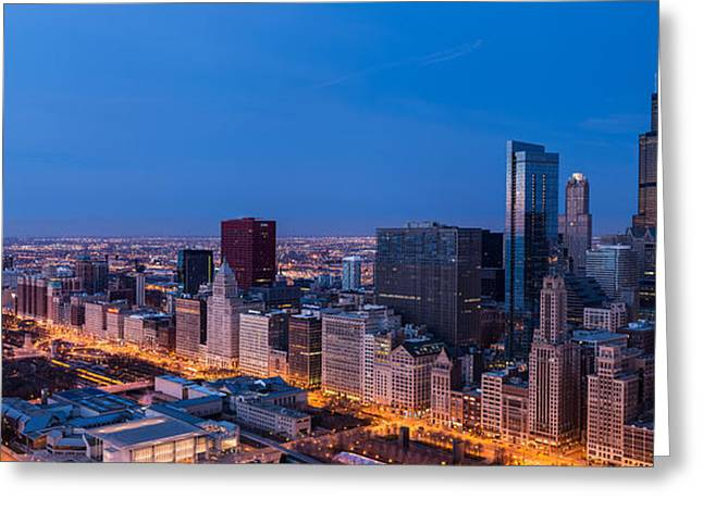 Institute Greeting Cards - Chicago Dawn Greeting Card by Steve Gadomski