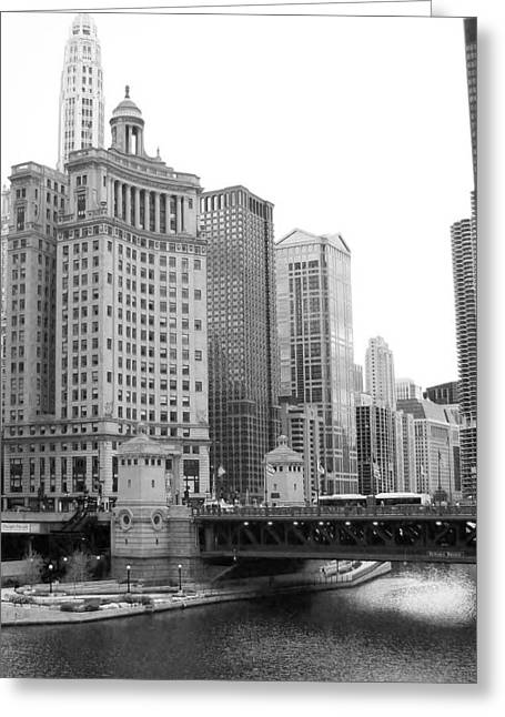 Chicago Downtown 2 Greeting Card by Bruce Bley