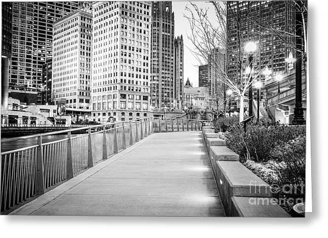 Chicago Downtown City Riverwalk Greeting Card by Paul Velgos