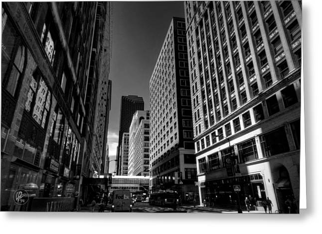 Fed Greeting Cards - Chicago - E Madison Street 001 Greeting Card by Lance Vaughn