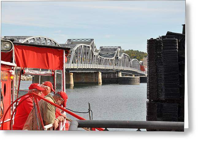 Sturgeon Greeting Cards - Chicago Fire Boat Guides Greeting Card by Jeremy Evensen