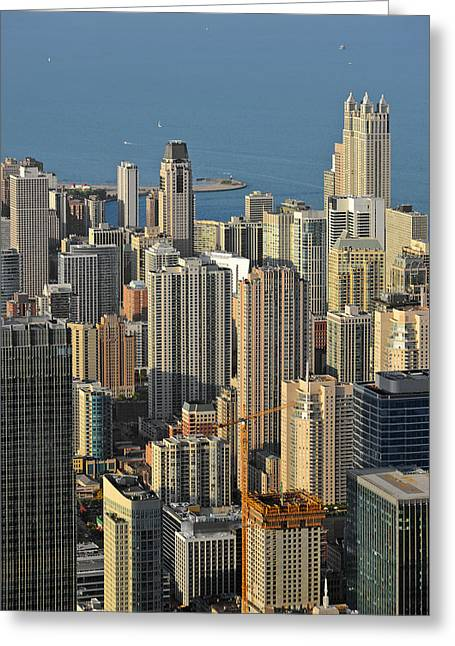 From Above Greeting Cards - Chicago from above - What a view Greeting Card by Christine Till
