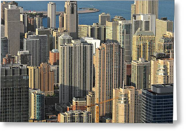 Chicago from above - What a view Greeting Card by Christine Till