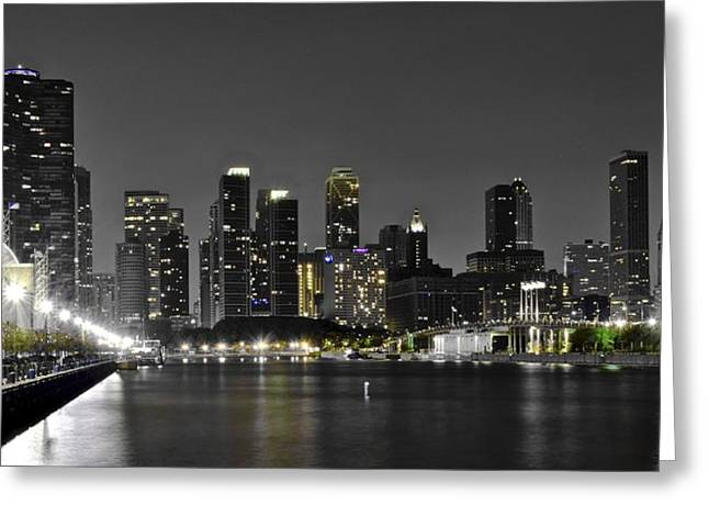 Chicago Bulls Greeting Cards - Chicago from Navy Pier Greeting Card by Frozen in Time Fine Art Photography