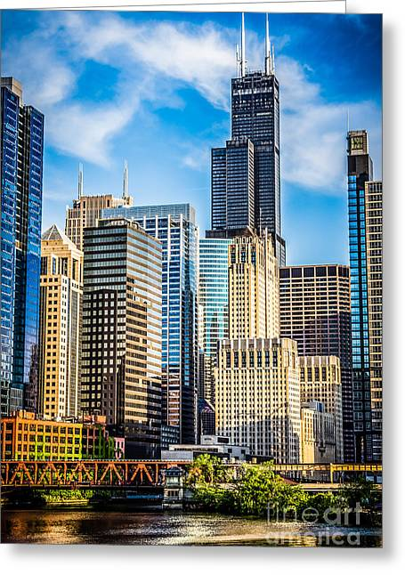 Sears Greeting Cards - Chicago High Resolution Picture Greeting Card by Paul Velgos