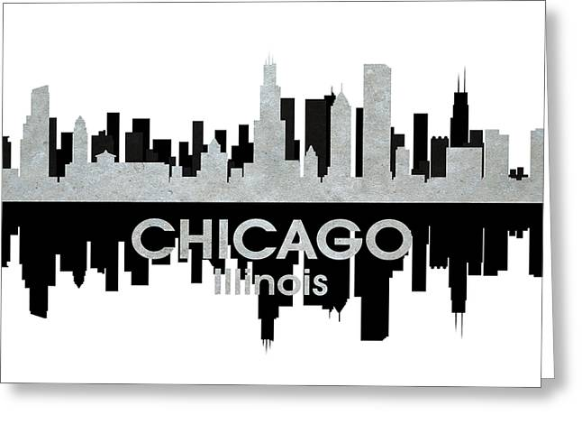 Town Mixed Media Greeting Cards - Chicago IL 4 Greeting Card by Angelina Vick