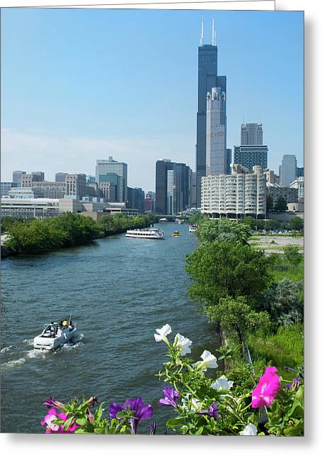 Chicago, Illinois Skyline Greeting Card by Bill Bachmann