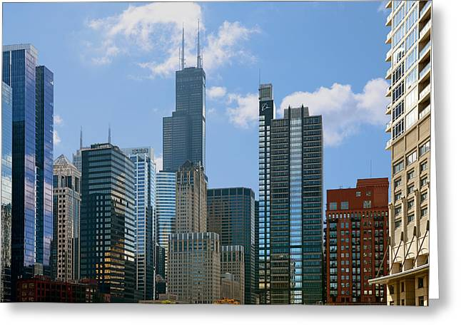 White Greeting Cards - Chicago - Its Your Kind of Town Greeting Card by Christine Till