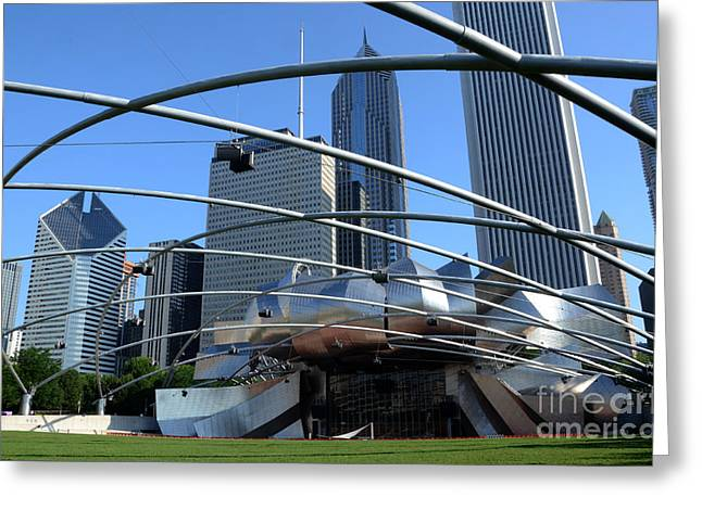 Outdoor Theater Greeting Cards - Chicago Jay Pritzker Pavilion  Greeting Card by Susan Montgomery