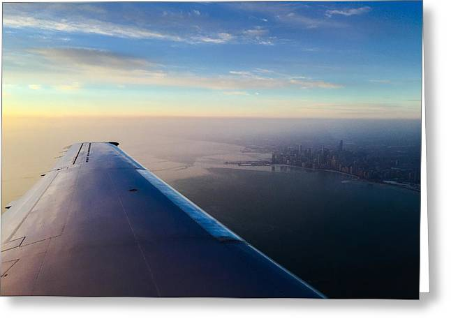 Flying Planes Greeting Cards - Chicago Greeting Card by Jeff Klingler