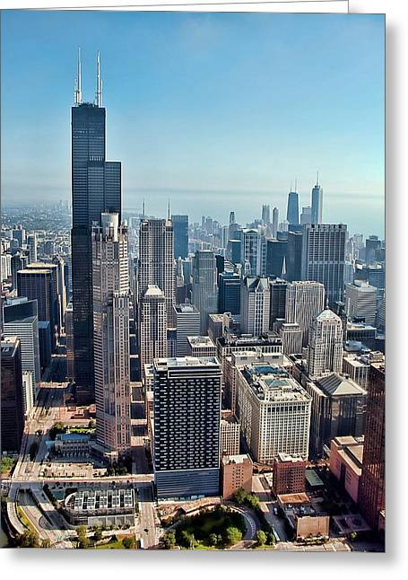 Skyline Photos Greeting Cards - Chicago Greeting Card by Jeff Lewis