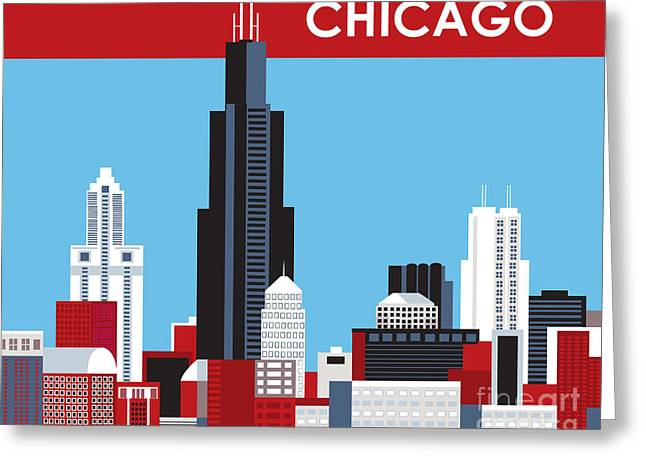 Chicago Digital Greeting Cards - Chicago Greeting Card by Karen Young