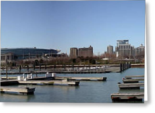 Chicago Lakefront - Soldier Field to Willis Tower Greeting Card by David Bearden
