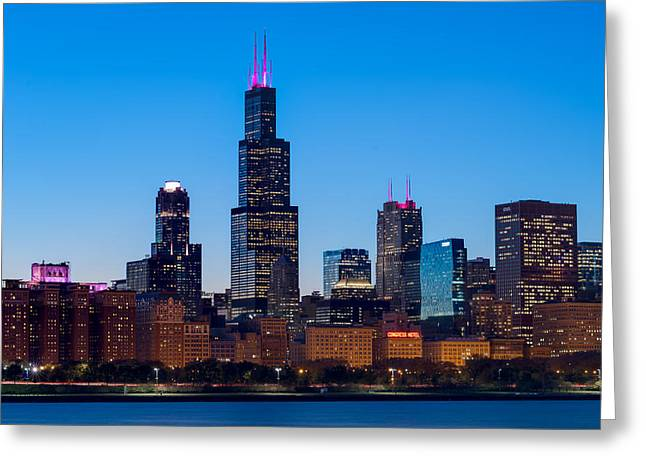 Hilton Greeting Cards - Chicago Lakefront Blues Greeting Card by Steve Gadomski