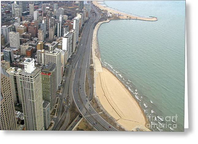 Chicago Lakeshore Greeting Card by Ann Horn