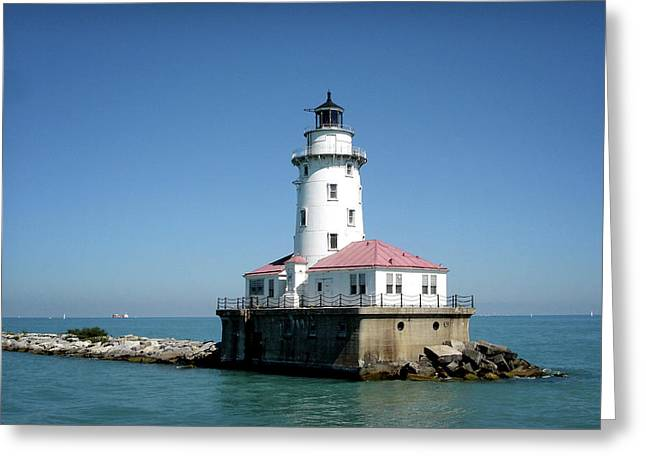 Chicago Lighthouse Greeting Card by Julie Palencia