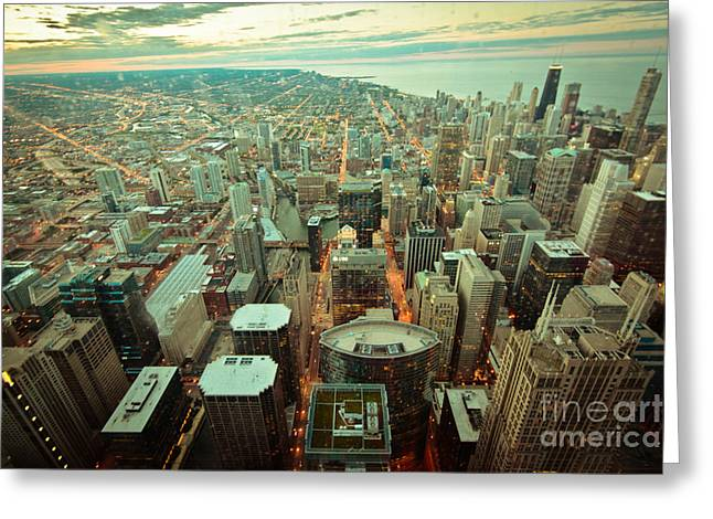Will Cardoso Greeting Cards - Chicago Ligths Greeting Card by Will Cardoso
