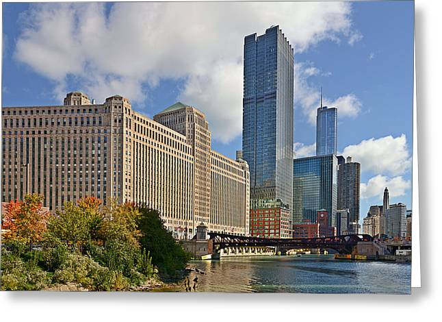 Midwest Greeting Cards - Chicago Merchandise Mart Greeting Card by Christine Till