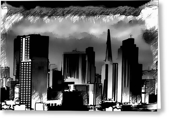 Windy City Mixed Media Greeting Cards - Chicago Greeting Card by Mountain Dreams