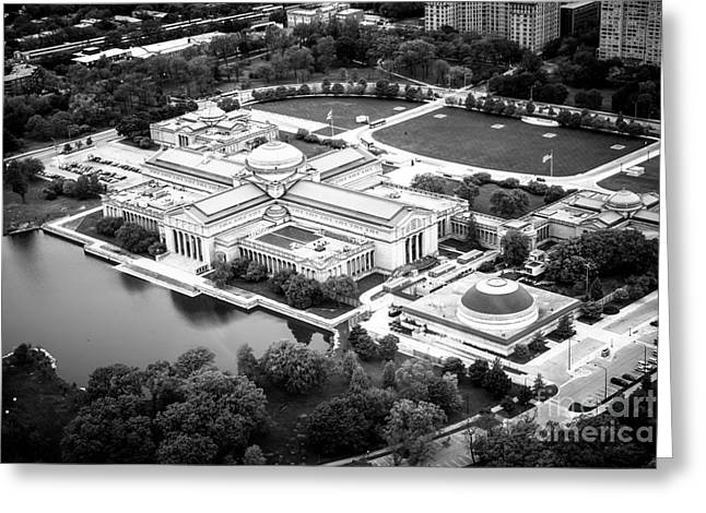Chicago Museum Of Science And Industry Aerial View Greeting Card by Paul Velgos