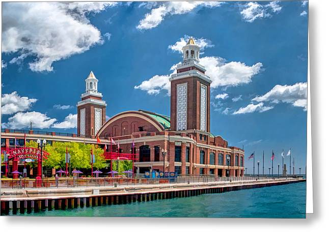 Dance Hall Greeting Cards - Chicago Navy Pier Greeting Card by Christopher Arndt