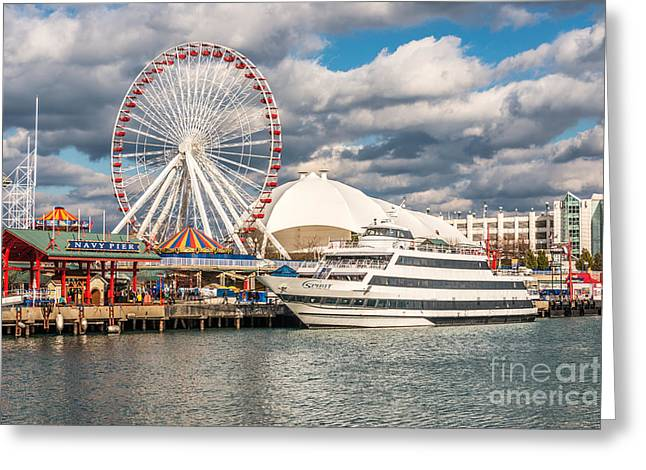 Chicago Prints Greeting Cards - Chicago Navy Pier Photo Greeting Card by Paul Velgos
