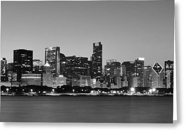 The Bean Greeting Cards - Chicago Panorama Greeting Card by Frozen in Time Fine Art Photography