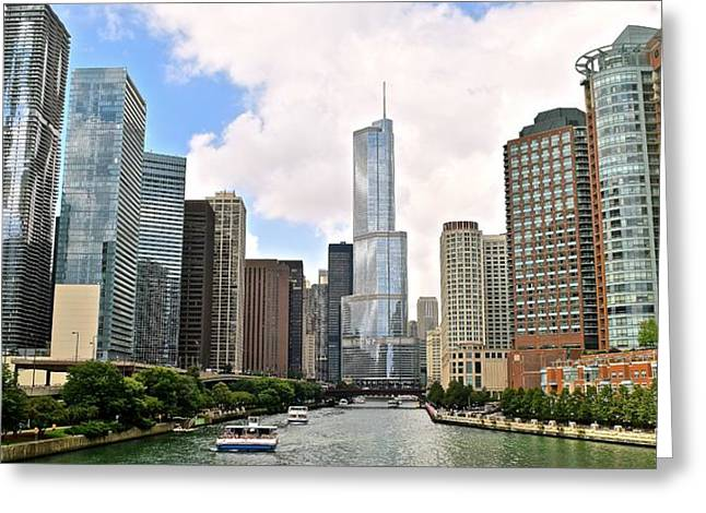 Fountain Greeting Cards - Chicago Pride of Illinois Greeting Card by Frozen in Time Fine Art Photography