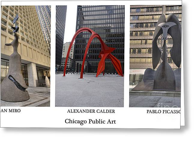 Pablo Greeting Cards - Chicago Public Art Greeting Card by David Bearden