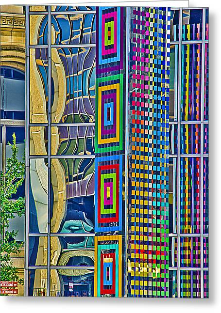 Julie Palencia Photography Greeting Cards - Chicago Reflective Abstract Greeting Card by Julie Palencia