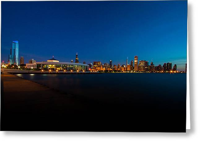 Urban Buildings Greeting Cards - Chicago Rising Greeting Card by Daniel Chen