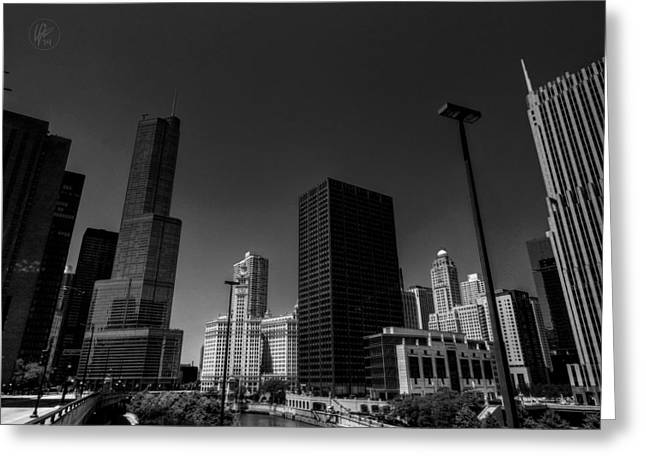 Hotels Greeting Cards - Chicago River 001 Greeting Card by Lance Vaughn