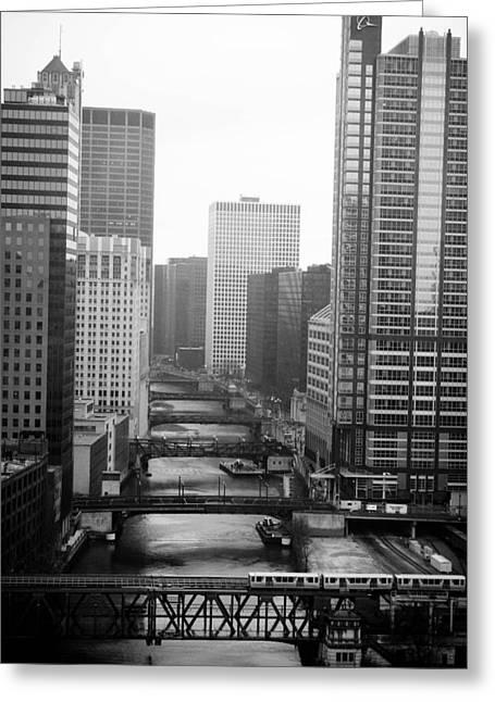 Allan Millora Greeting Cards - Chicago River Greeting Card by Allan Millora