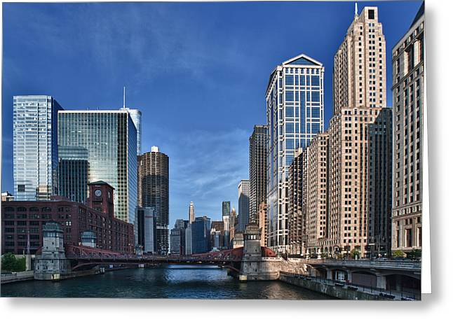 Iconic Photographs Greeting Cards - Chicago River Greeting Card by Sebastian Musial