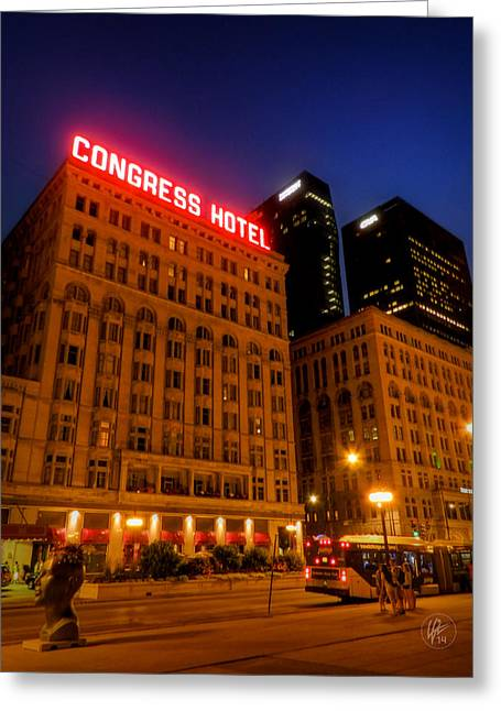 Congress Street Greeting Cards - Chicago - S Michigan Ave 002 Greeting Card by Lance Vaughn