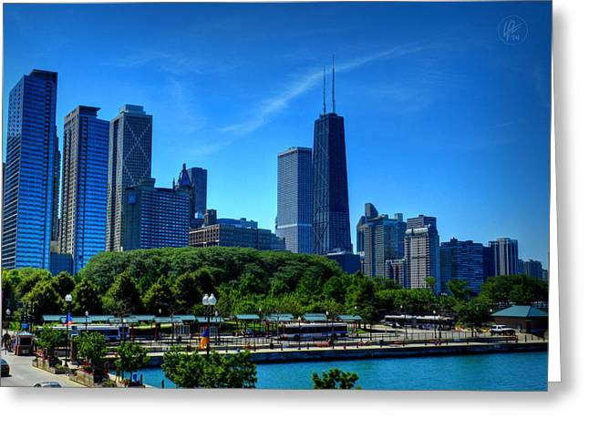 Skyscraper Greeting Cards - Chicago Skyline 002 Greeting Card by Lance Vaughn