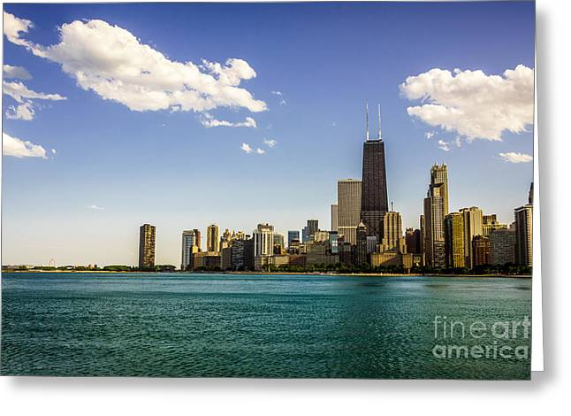 North Side Greeting Cards - Chicago Skyline and Chicago Lakefront Greeting Card by Paul Velgos