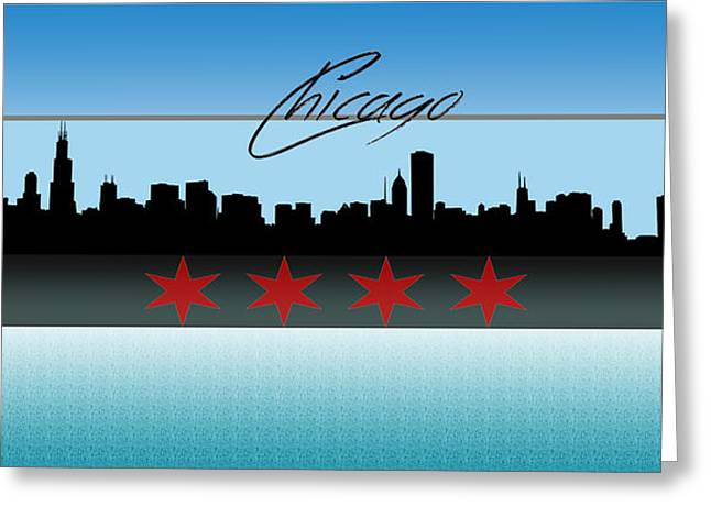 Daley Plaza Greeting Cards - Chicago Skyline Greeting Card by Becca Buecher