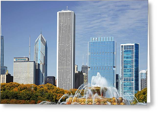 Health Greeting Cards - Chicago skyline from Millenium Park IV Greeting Card by Christine Till