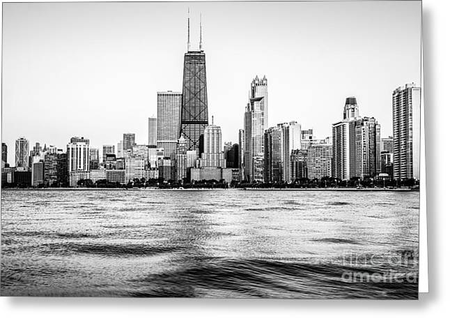 Many Greeting Cards - Chicago Skyline Hancock Building Black and White Photo Greeting Card by Paul Velgos