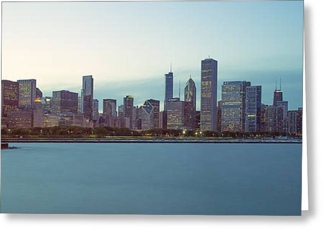 Chicago Skyline Art Greeting Cards - Chicago Skyline Greeting Card by Ian Barber