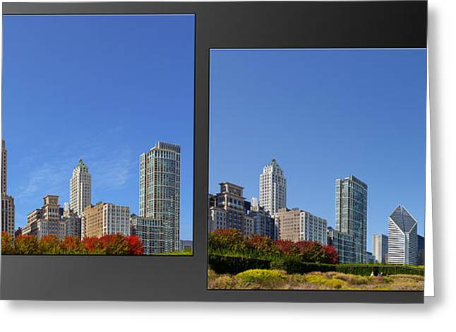 Collages Greeting Cards - Chicago Skyline of Superstructures Greeting Card by Christine Till