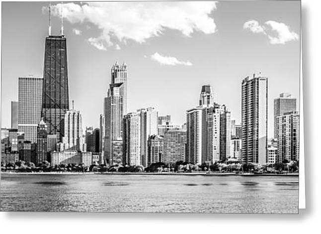 Chicago Prints Greeting Cards - Chicago Skyline Panoramic Picture of Gold Coast Greeting Card by Paul Velgos